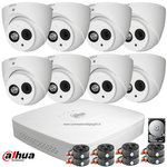 Dahua 2MP FULL HD camerabewakingssysteem 8 camera's incl. microfoon.