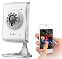 WIFI IP Camera Funlux binnen HD tweerichting audio en gratis app.