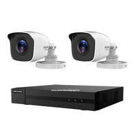 Hikvision Turbo HD camerabewaking set met 2 EXIR bullet outdoor camera's.