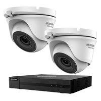 Hikvision Turbo HD camerabeveiliging set met 2 EXIR dome indoor /outdoor beveiligingscamera's.