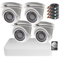 Camerabewaking set Safire FULL HD met 4 vandaalbestendige dome camera's.
