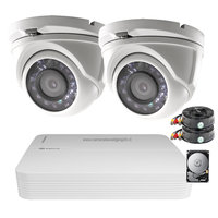 2MP FULL HD camerabewakingssysteem met 2 vandaalbestendige buiten dome camera's.