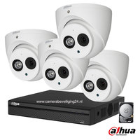 Dahua 2MP camerabewakingssysteem FULL HD 4 camera's incl. microfoon.