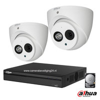Dahua 2MP camerabewakingssysteem FULL HD 2 camera's incl. microfoon.