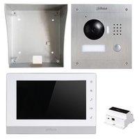 Dahua IP video intercom complete kit met paneel, monitor en controller - 2 draads aansluiting