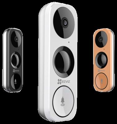 DB1 Ezviz 3MP WiFi slimme video deurbel met microfoon, speaker, PIR detectie en app.
