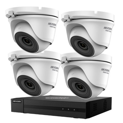 4MP Hikvision High-Performance Smart IR 20m camerasysteem met 4 dome camera's.