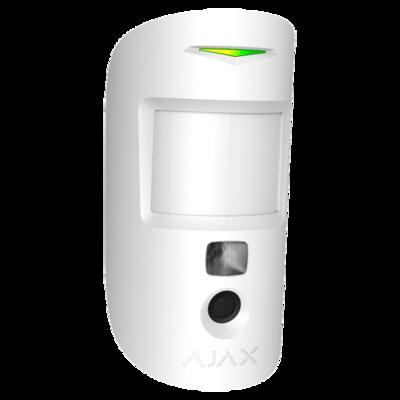 Ajax MotionCam PIR en IP camera gecombineerd verkrijgbaar in kleur zwart of wit.