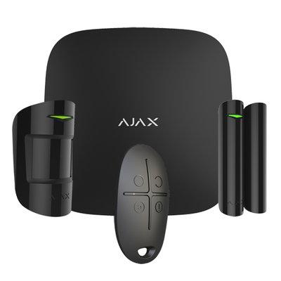 Ajax Hubkit-B alarmsysteem starterskit met hub, draadloze deursensor, bewegingsmelder en afstandsbediening.