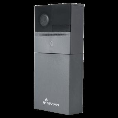 Nivian NVS-IPVD1B Wifi slimme video deurbel met mic, speaker, micro SD-slot, app en accu.