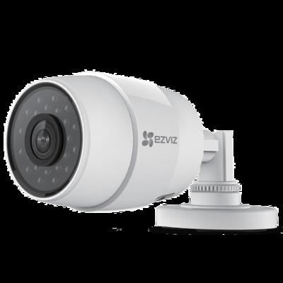Ezviz Hikvision C3C WIFI en PoE buiten bullet IP camera 720P HD met nachtzicht en microSD slot.