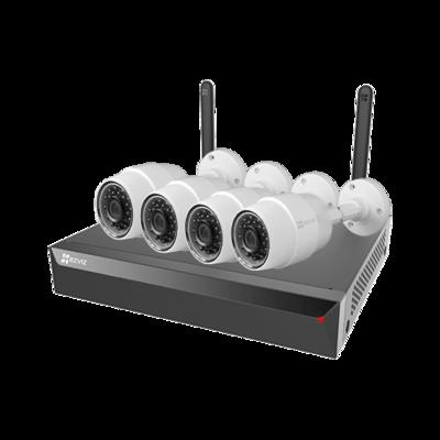 EZ-X5S-4W-C3C EZVIZ WIFI camerasysteem met 4 C3C bullet IP Camera, en 4 kanaals NVR met eigen ingebouwde WIFI router.
