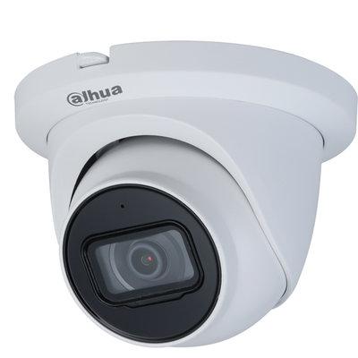 5MP Dahua Starlight PoE Turret IP bewakingscamera voor buiten met sd slot en nachtzicht.