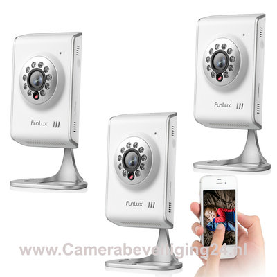 WIFI IP camera's 720P HD bewakingscamera incl. tweerichting audio en gratis app.(UITVERKOCHT!)