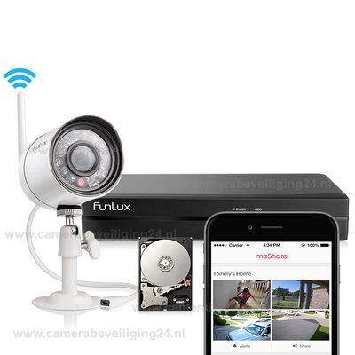 Draadloos IP camerabeveiliging set met 1 camera  720P HD (UITVERKOCHT!)