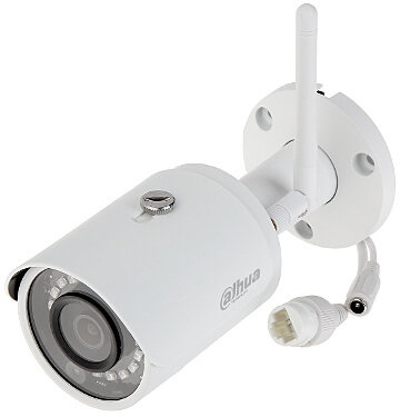 Draadloos Dahua IPC-HFW1435S-W WIFI buiten IP camera 4MP FULL HD met app en MicroSD slot.