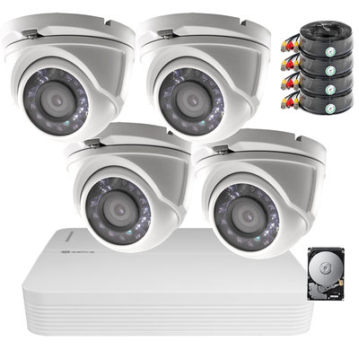 Actie OP=OP! Camerabewaking set Safire FULL HD met 4 vandaalbestendige dome camera's.