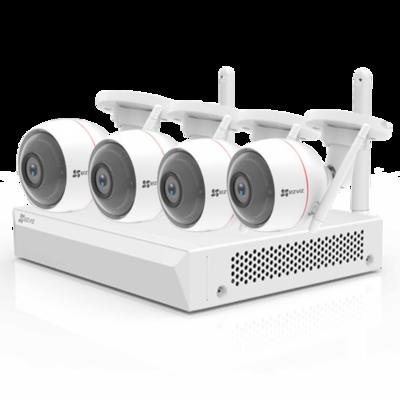 EZ-BW2824-B1E10 EZVIZ Draadloos camerasysteem 4 IP Camera, 8 CH NVR met WIFI, microfoon en speaker.