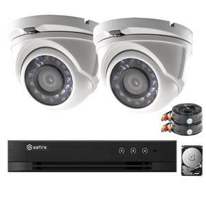 Complete 1080P FULL HD camerabewaking incl. 1 sterke aluminium camera, dvr en gratis app.