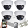 Dahua 5MP IP PoE dome camerabewakingssysteem FULL HD 4 camera's.