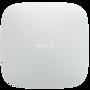 Ajax Hubkit-W alarmsysteem starterskit met hub, draadloze deursensor, bewegingsmelder en afstandsbediening.