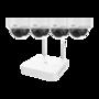 Uniview Plug & Play 2MP WiFi camerasysteem met 4 dome IP camera's, harde schijf en nachtzicht.